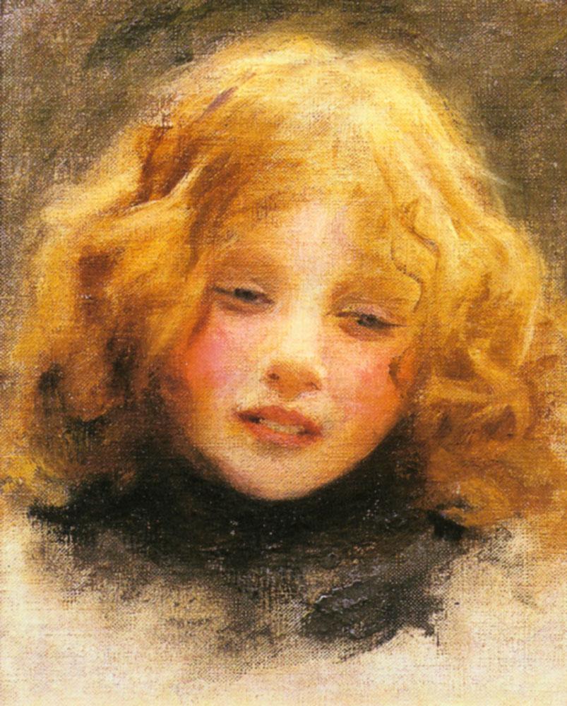 Oil Painting Girl Child Portrait Head Study