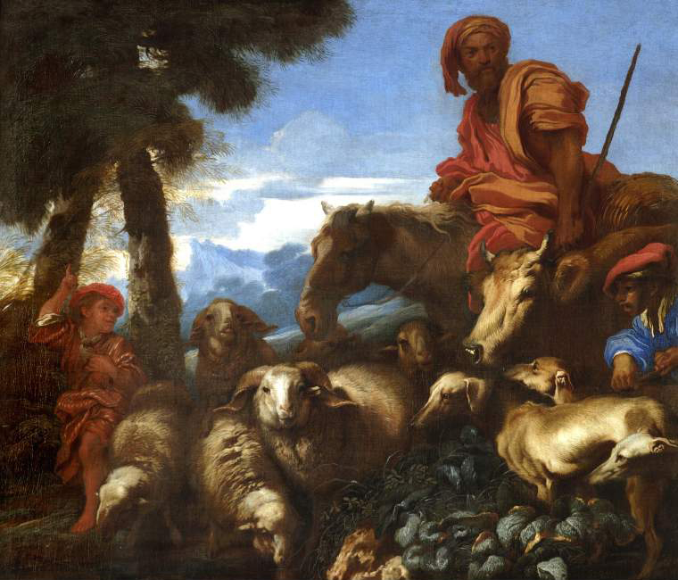 Abraham journeying to the land of Canaan