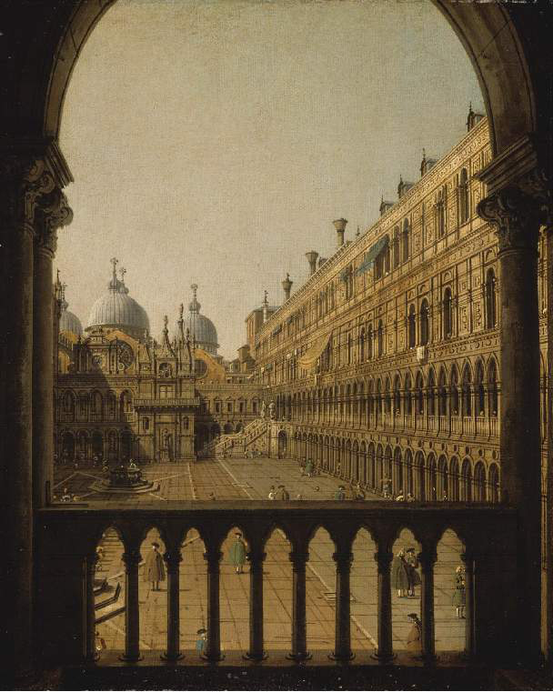 Interior Court of the Doge's Palace, Venice