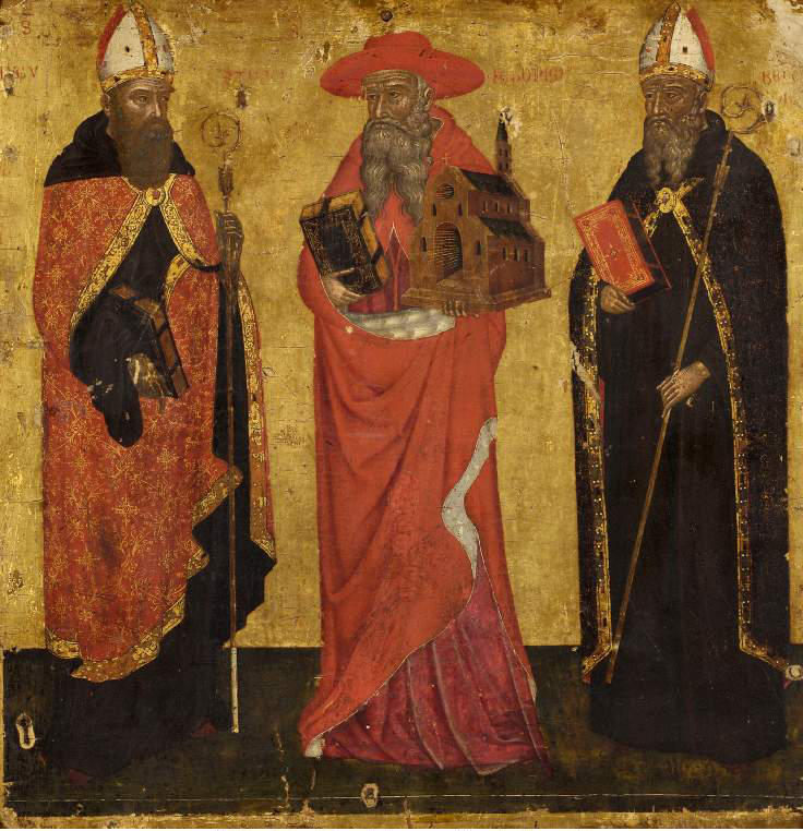 St Augustine, St Jerome and St Benedict