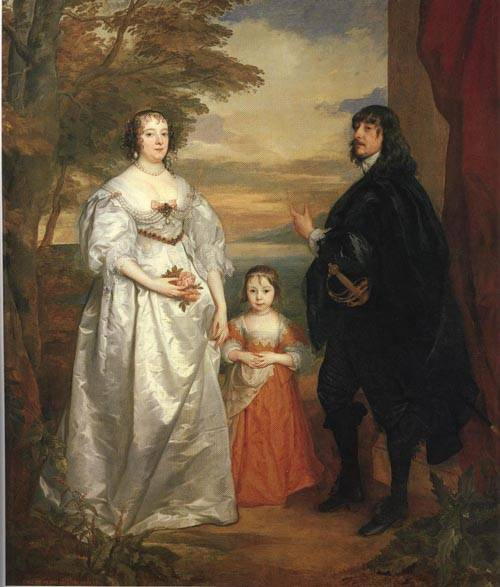 James Seventh Earl of Derby His Lady and Child 1641