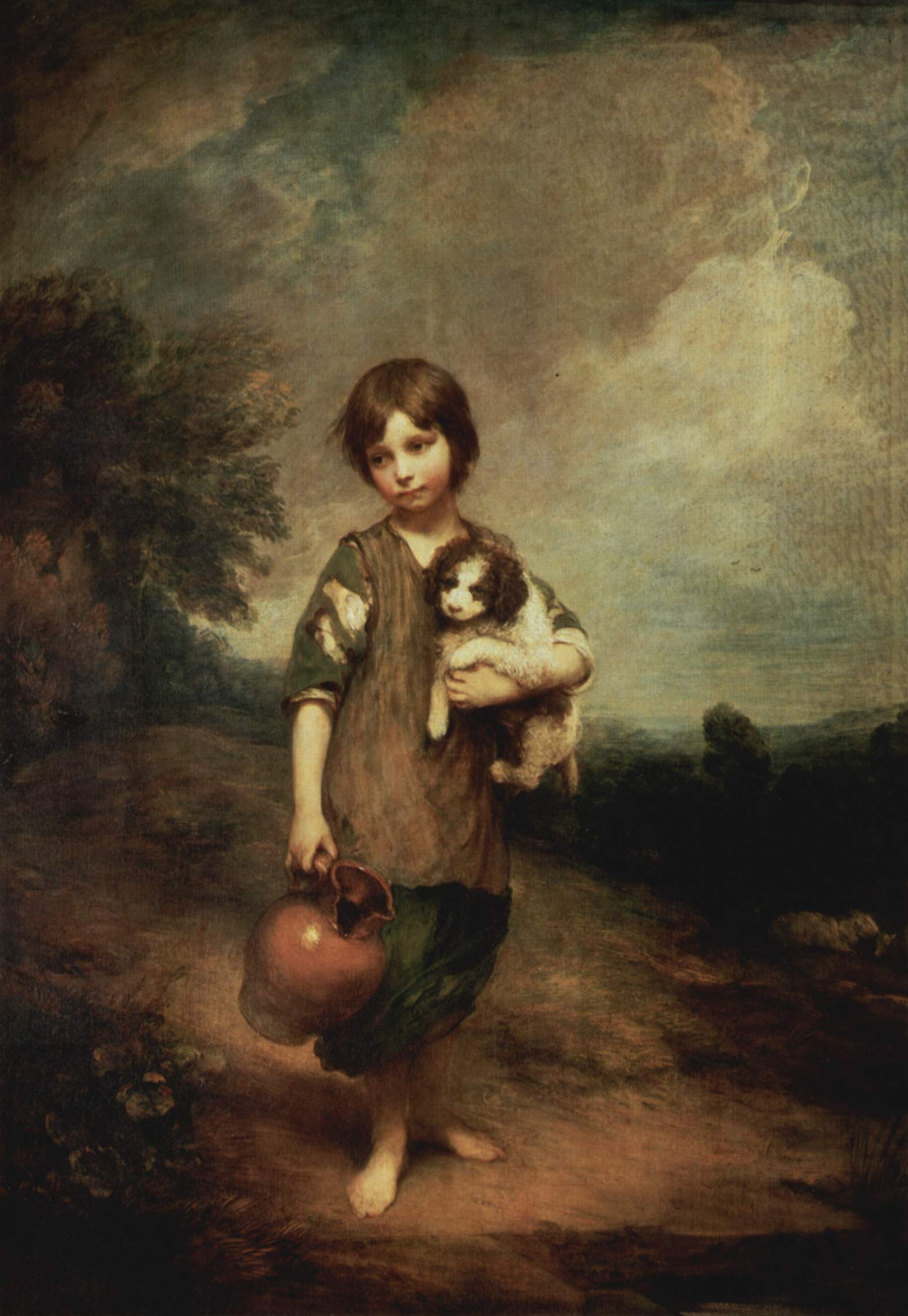 Cottage Girl with Dog and Pitcher