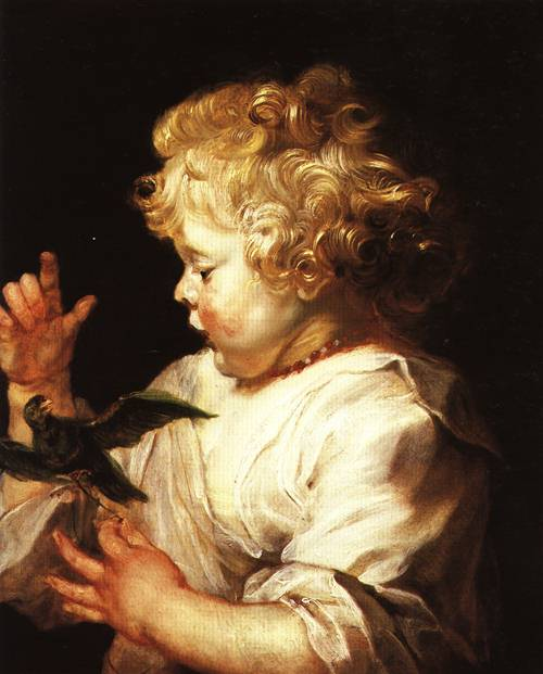 Child with a Bird 1624 5