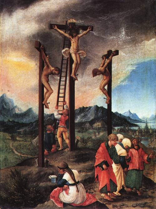 Christ on the Cross between the Two thieves 1526