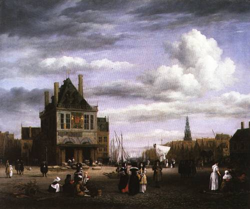 Damrak Square in Amsterdam 1675 80