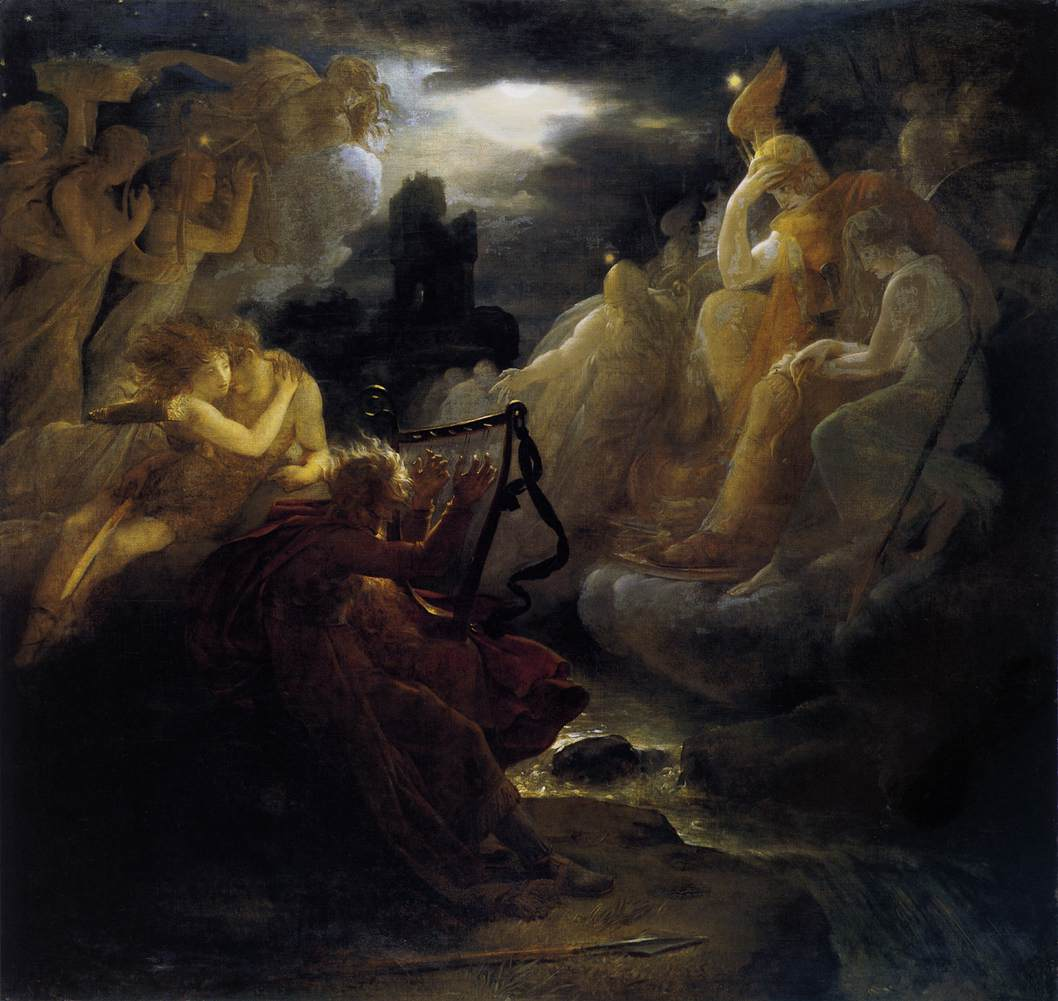 Ossian Awakening the Spirits on the Banks of the Lora