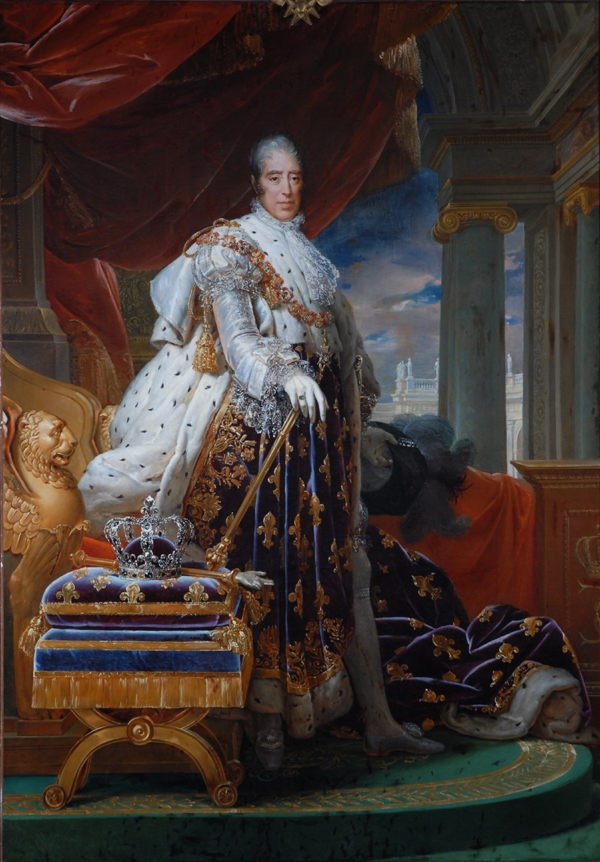 Charles X in his Coronation Robes
