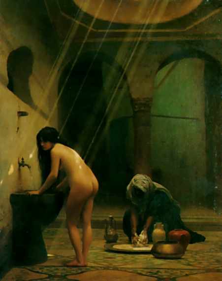 A Moorish Bath - Turkish Woman Bathing