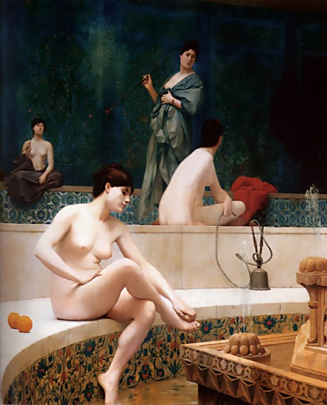 A Bath, Woman Bathing Her Feet