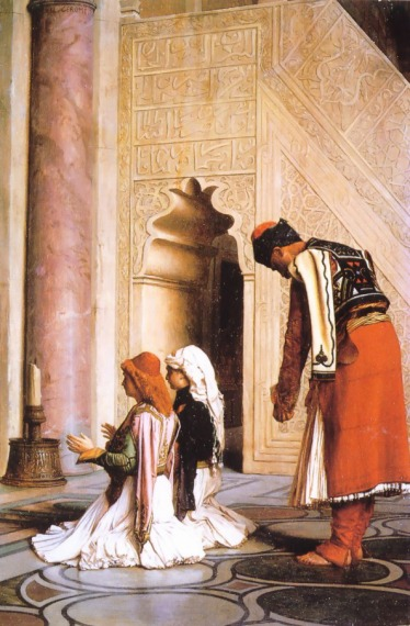 Young Greeks at the Mosque