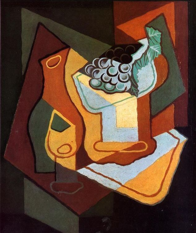 Bottle, Wine Glass and Fruit Bowl