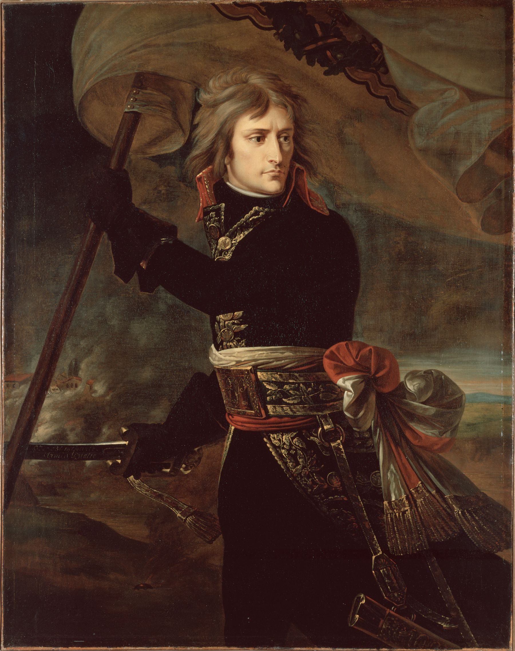 Napoleon Bonaparte on the Bridge of Arcole