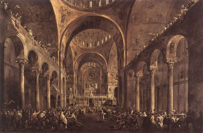 Doge Alvise IV Mocenigo Appears to the People in St Mark\'s Basilica