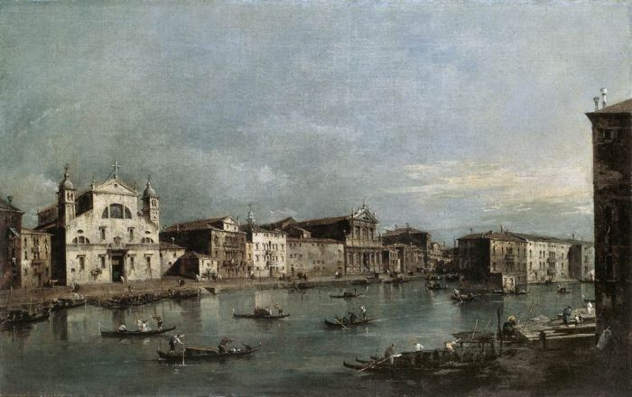 The Grand Canal with Santa Lucia and the Scalzi