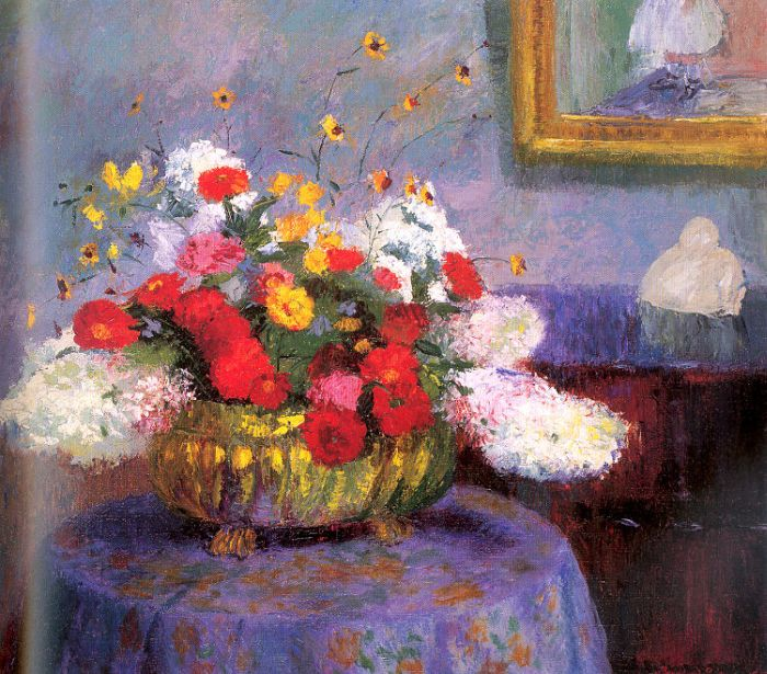Still Life, Round Bowl With Flowers