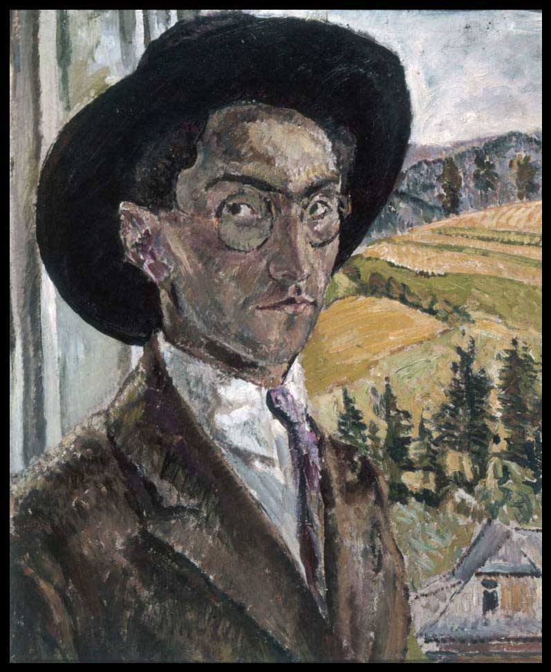 Self-Portrait with Black Hat