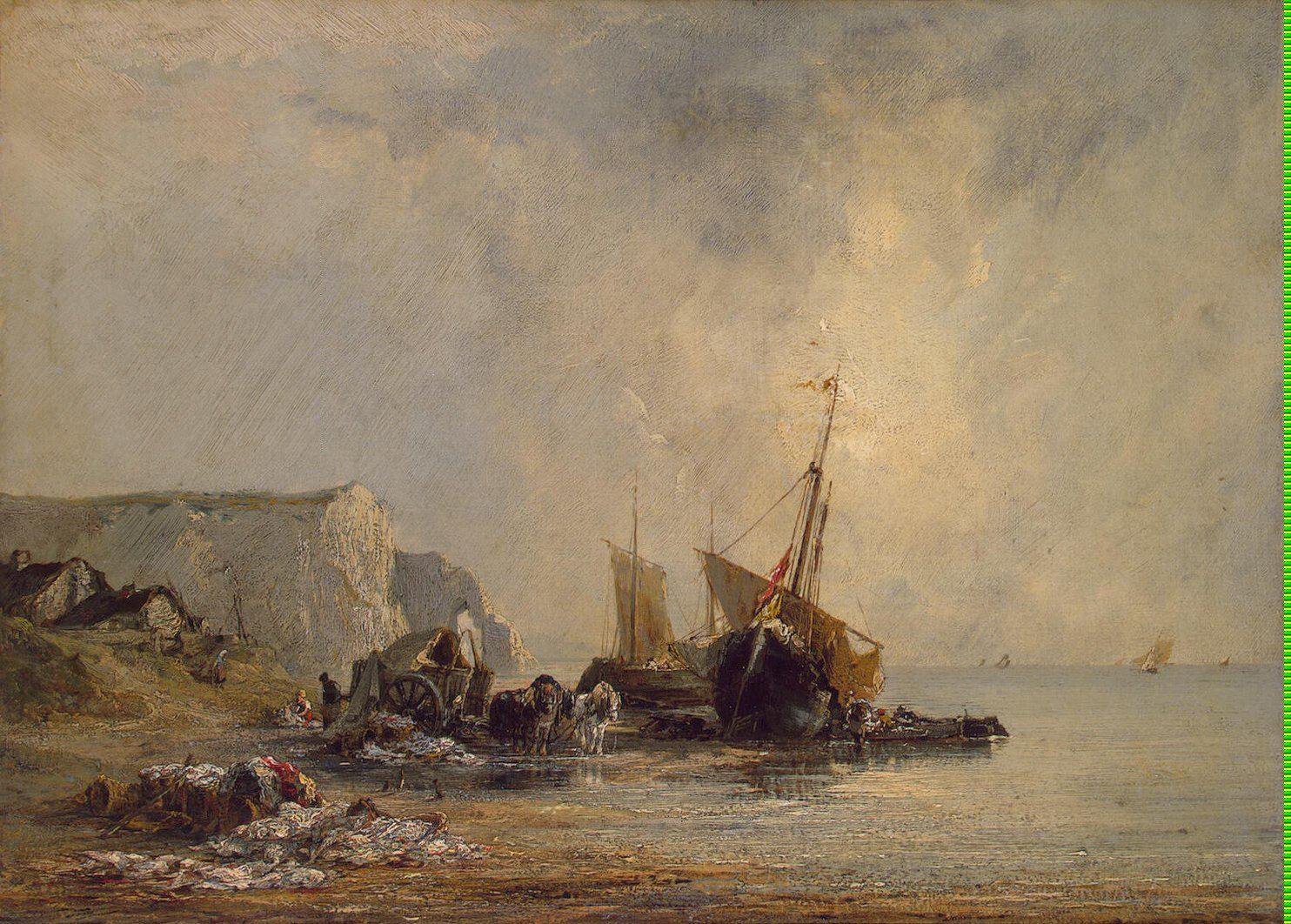 Boats near Shore of Normandy