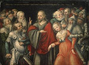 Christ and the Adulteress mid 1540s