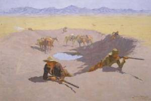 Fight for the Water Hole 1903