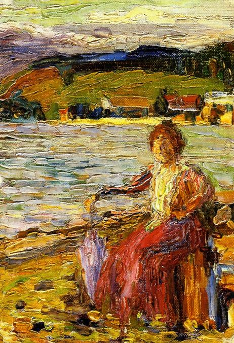 Kochel - Lady Seated by a Lakeside
