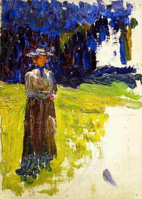 Kochel - Lady Standing by the Forest's Edge