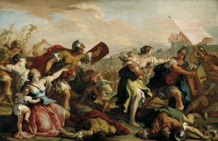 Battle of the Romans and the Sabines c 1700