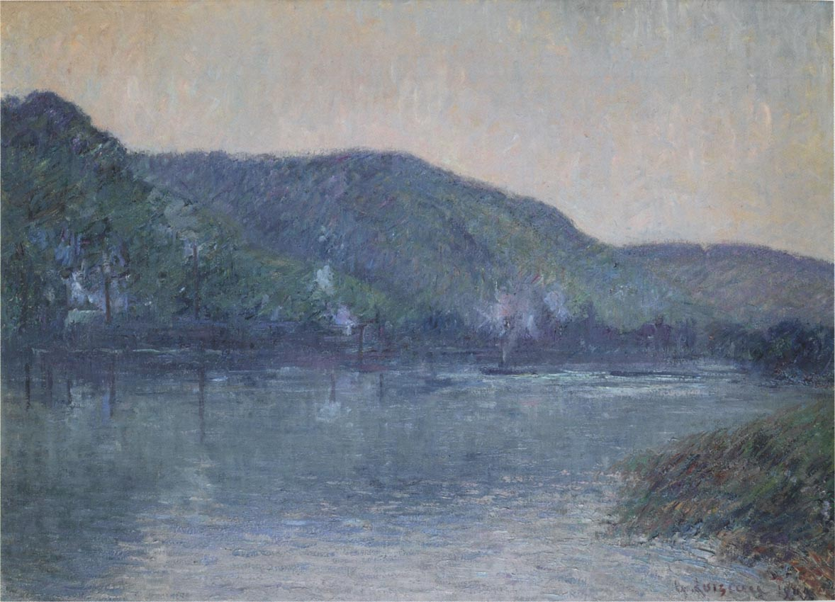 Boats on the Seine at Oissel