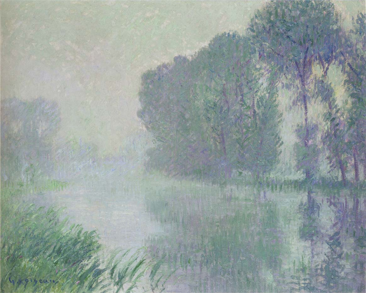 By the Eure River - Afternoon, Fog Effect