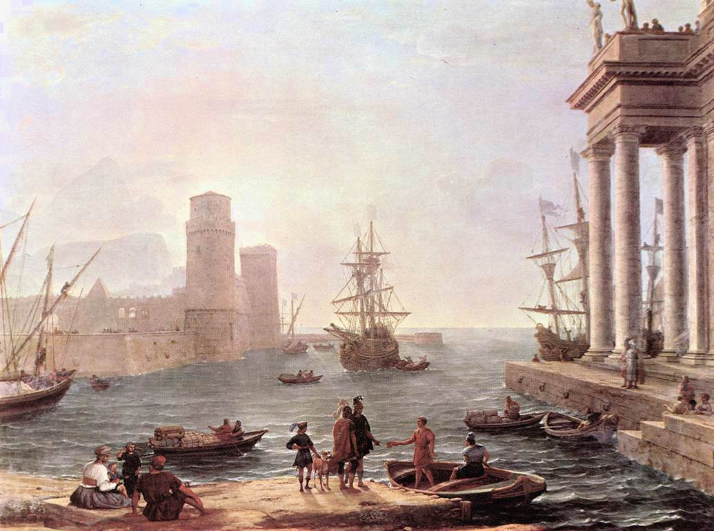 Port Scene with the Departure of Ulysses from the Land of the Feaci