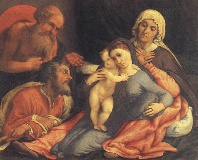 Madonna And Child With Saint Jerome, Saint Joseph, And Saint Anne