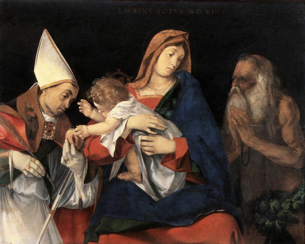 Madonna and Child with St. Ignatius of Antioch and St. Onophrius