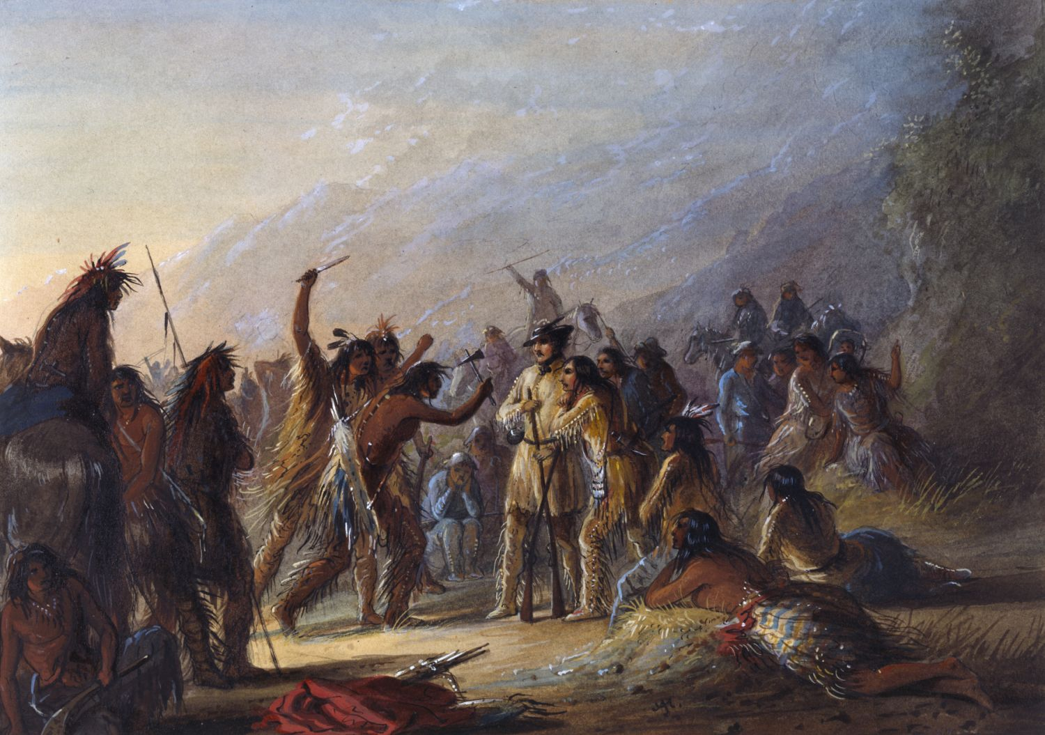 Attack by Crow Indians