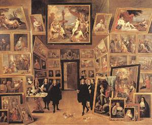 Archduke Leopold Wilhelm In His Gallery 1647