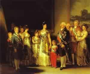 Charles Iv And His Family 1800