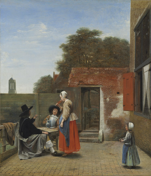 A Dutch Courtyard, 1658-1660