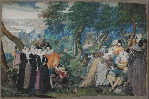A Party in the Open Air Allegory on Conjugal Love