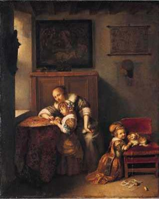 A Lady Teaching a Child to Read