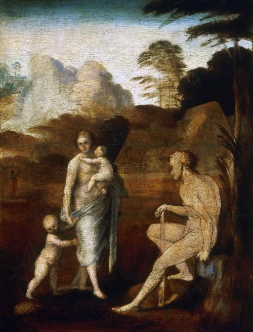 Adam and Eve with Cain and Abel