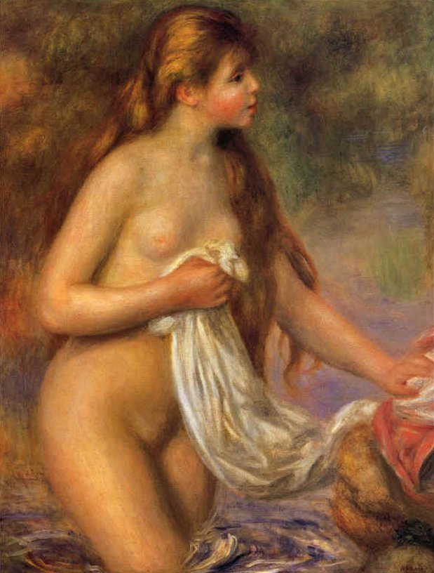 Bather with long hairs