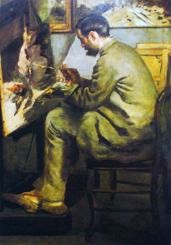 Frederic Bazille at His Easel
