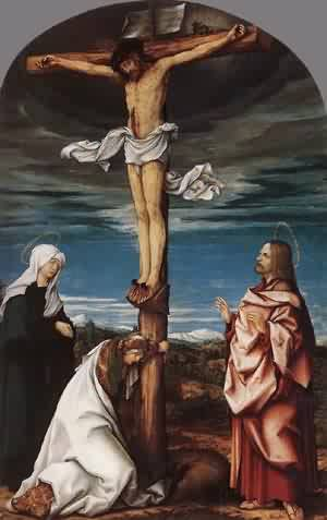 Crucifix With Mary Mary Magdalen And St John The Evangelist 1519