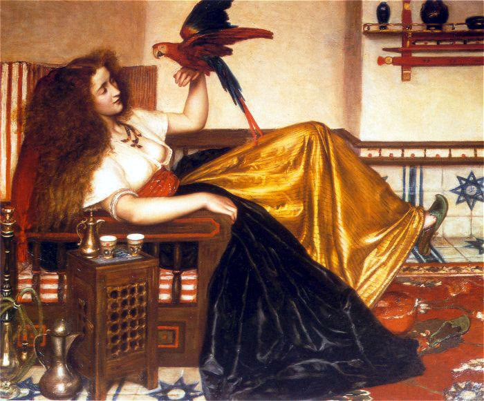 Reclining Woman with a Parrot