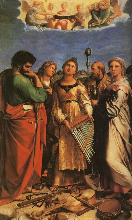 St Cecilia with Sts Paul John Evangeliste Augustine