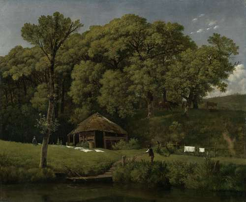 A Barn on the Bank of a Stream in Gelderland. ca. 1805 - ca. 1810