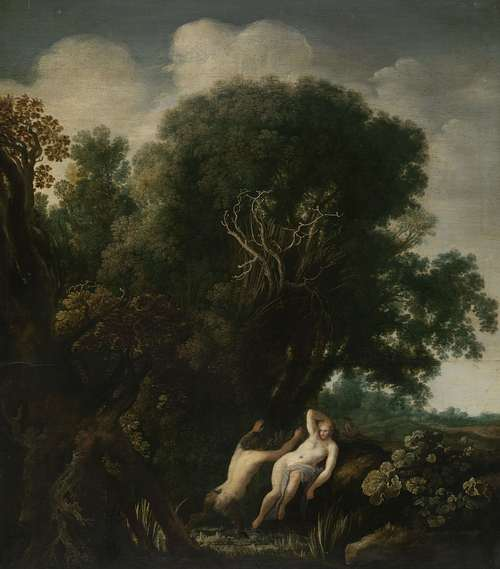 A Bathing Nymph Taken by Surprise by a Satyr. ca. 1630 - 1635