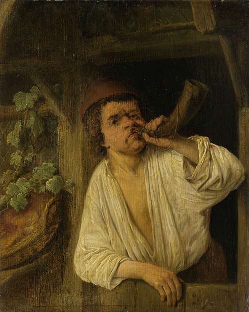 A baker blowing his horn. 1630 - 1685