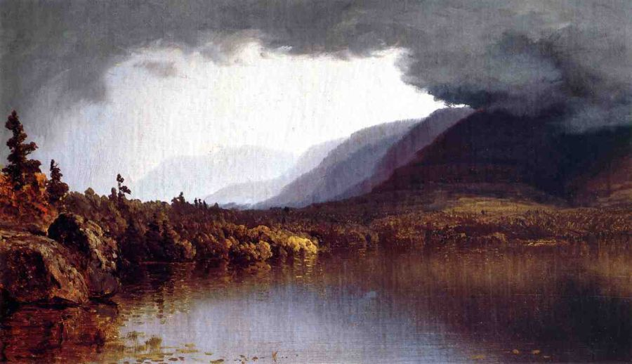 A Coming Storm on Lake George
