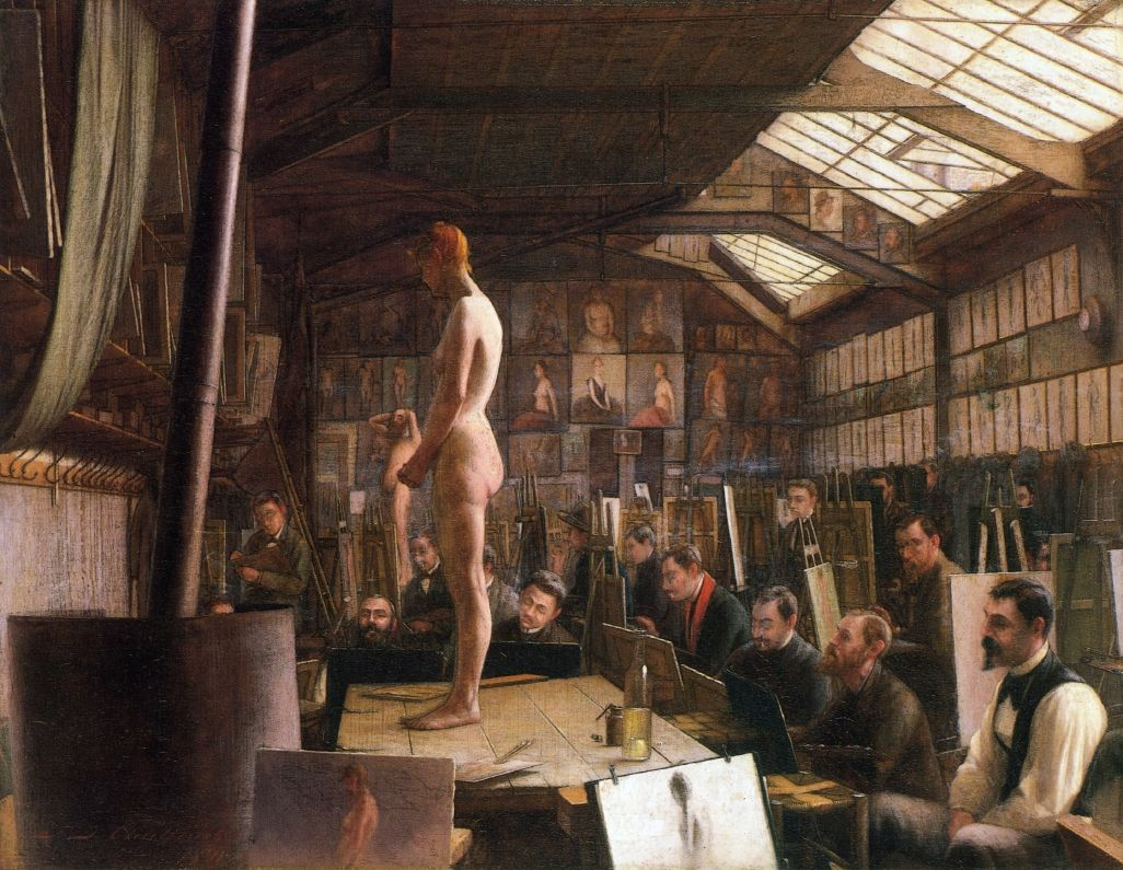 Bouguereau's Atelier at the Acadeemie Julian, Paris
