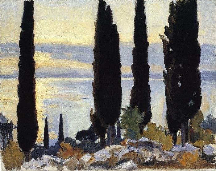 Cypress Trees at San Vigilio