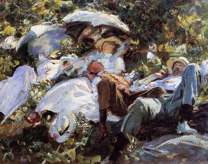 Group with Parasols